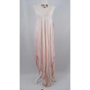 👉 SALE! Hand Dyed Maxi Dress Pale Pink L